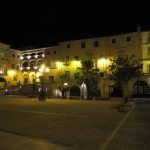 Extremadura Plaza Mayor am Abend